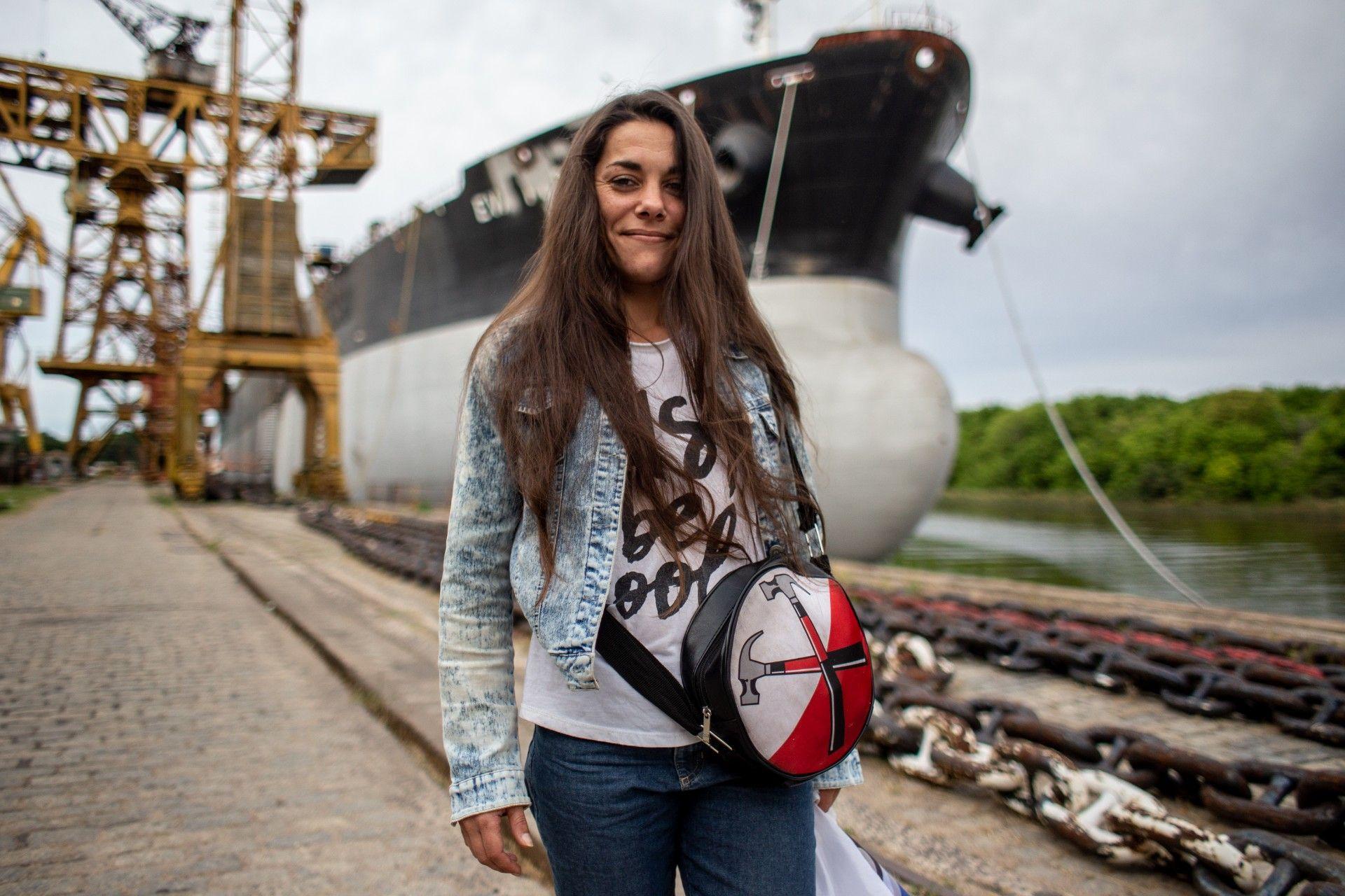 Cecilia es preceptora de la ETARS Crédito: Nico Fredda