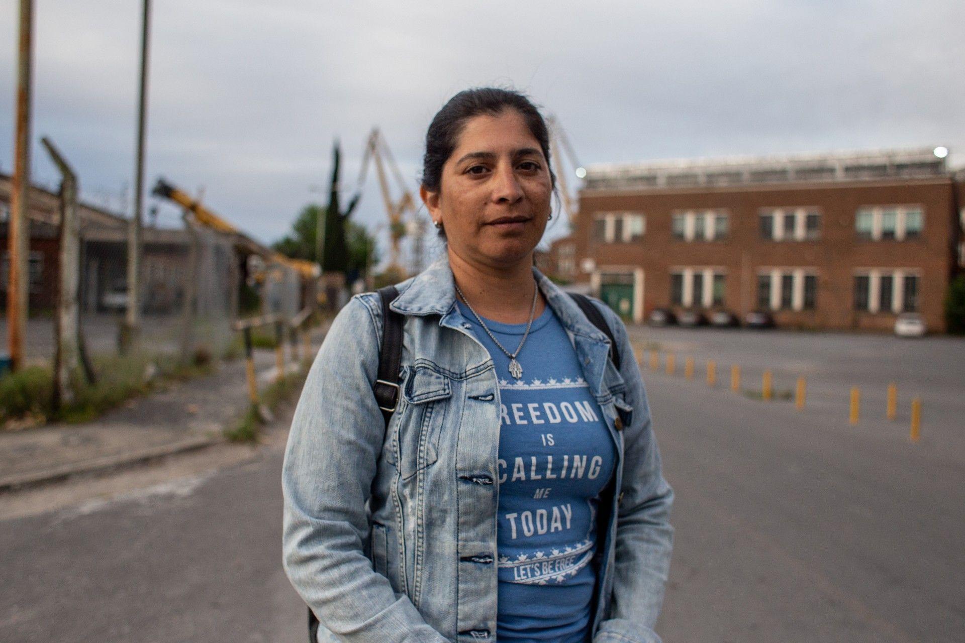 Ivana es tercera generación de trabajadorxs en el Astillero. Crédito: Nico Fredda